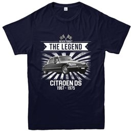 Wholesale Citroen DS T Shirt Never Forget The Legends Cars Design Tee TopFunny Unisex Casual tee gift