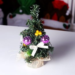 Small House Decoration Australia - Small Diy Christmas Tree Fake Pine Tree Mini Sisal Bottle Christmas Santa Snow Frost Village House Decoration For Home decor