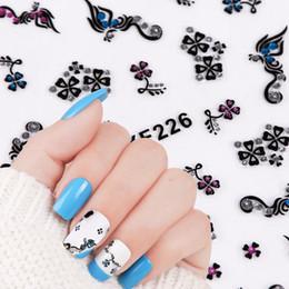 3d Nail Decor Canada - 1 Sheet 3d Flower Paern Nail Art Sticker Nail Tips Decals Gel Polish Charm Nail Stickers Adhesive Manicure Decor BEXF218-226