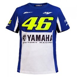 7503af9c2bf1 2017 Valentino Rossi VR46 M1 Factory Racing Team Moto GP Sports T-shirt  Blue and white