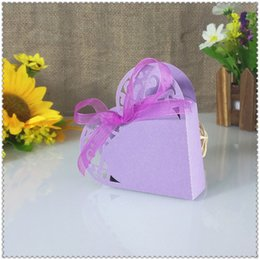 Wholesale Heart Candy Boxes Australia - 50 pcs laser cut heart candy box wedding gift box baby shower candy Christmas decoration 5ZT28