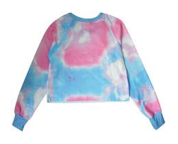 Pink Clothing Women UK - Pink Blue Thickening Slim Sweatshirt Tracksuits Clothing Love Pink Hoodies Peach Heart Love Exposed Navel Women Hoodies Free Shipping