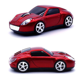 Blue Gray Car NZ - 3D 2.4GHz Wireless Sport Car Shape 1600DPI Optical Usb Cool Car Style Gaming Mouse Mice for PC Laptop Computer Red   Blue   Gray