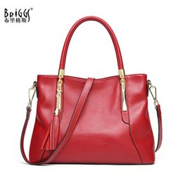 ladies handbags designer Canada - wholesale Genuine Leather Luxury Handbags Women Bags Designer Tote Business Real Leather Shoulder Messenger Bag Ladies Hand Bags