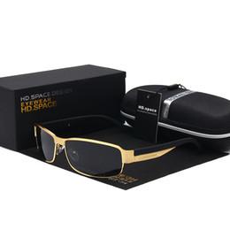 f063776a9d SPACE Nuevo Marco Rectangular de Metal de Alta Calidad Lente Polarizada  Gafas de sol de los hombres que conducen Uv400 Espejo gafas de sol 2017