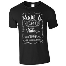 funny men t shirts UK - Comfortable Crew Neck Men Short Gift Made In 1978 T - Born 39th Year Birthday Age Present Funny Shirts