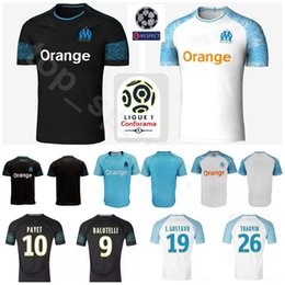 Soccer Football Shorts Man Australia - Men Soccer Ligue 1 Marseille Jersey 18 19 Season FC 26 Florian Thauvin 19 Luiz Gustavo 10 Dimitri Payet Football Shirt Kits Patch