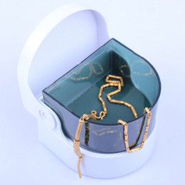 Mini electric jewelry cleaner necklace rings bracelets cordless sonic cleaner jewelry vibrate cleaning machine Simple practical tools on Sale