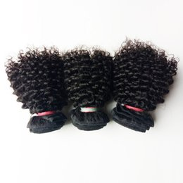 Cheap kinky Curly remy hair online shopping - Brazilian virgin Hair weaves sexy short inch Kinky curly hair weft Beautiful woman cheap Factory price European Indian remy hair