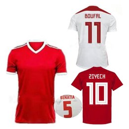 2018 World Cup Morocco Soccer Jersey BOUSSOUFA EL AHMADI BENATIA Football  Shirt ZIYECH BOUTAIB Camiseta de futbol Home Away Maillot Foot e0dd50b79