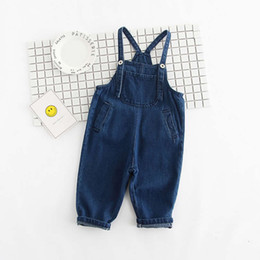 Chinese  Baby Boys Girls Jeans Overalls Toddler Kids Denim Rompers Cute Cartoon Bebe Jumpsuit Long Children Pants Clothes manufacturers