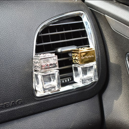 conditioner bottles NZ - New Car Ornament Decoration Perfume Empty Bottle Vents Clip Auto Air Freshener Automobiles Air Conditioner Outlet Fragrance Smell Diffuser