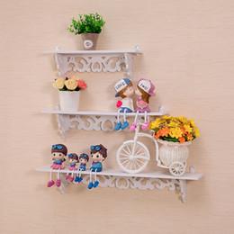 Mounted clothes rack online shopping - Storage Holder Shoe Rack Pvc Wood Plastic Plate Simple Wall Stacks Flower Frame Clapboard Walls Hanging Shelf Rack hx3 gg