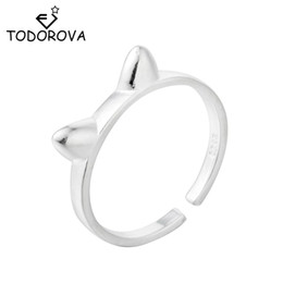 $enCountryForm.capitalKeyWord Australia - Todorova 2018 New Cute Accessories for Women Jewelry Lovely Kitty Cat Ear Rings Wedding Gifts Simple Style Bague Femme