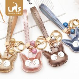 $enCountryForm.capitalKeyWord Australia - Creative new cotton filled cat key chain pendant pu temperament bag pendant