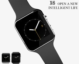Smart Phone Watch Using Whatsapp NZ - X6 Bluetooth Smart Watch Sport Smartwatch With Camera Support SIM TF Card Whatsapp Facebook for iphone and Android Phone