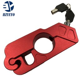 Levers Universal NZ - HZYEYO Universal Motorbike Parts Accessories Caps-Lock Motorcycle Aluminum Handlebar Grip Brake Lever Throttle Security Lock