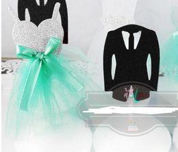 $enCountryForm.capitalKeyWord NZ - Wedding Cake Topper Groom Tuxedo Bridal Dress Toppers decor personalised birthday Cake decoration Party props tiffany blue black