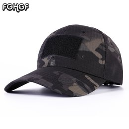 716d6120ad5 FGHGF Camouflage Tactical Militar Baseball Cap Men Multicam Paintball Army  Hats For Male Casual Adjustable Snapback Baseball Cap