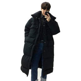 4f990995392 Mens Overcoat Men Winter Long Thick Parkas Jacket Outerwear Plus Size Male  Fashion Casual Loose Warm Cotton Padded Coat