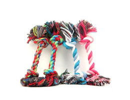 $enCountryForm.capitalKeyWord UK - High Quality Pet Dog Toy Double Knot Cotton Rope Puppy Braided Bone Shape Puppy Chew Toy Cleaning Tooth 30cm Free Dropshipping