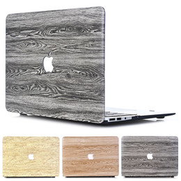 $enCountryForm.capitalKeyWord Australia - New Classical Wood Grain PU Leather TOP Plastic Laptop Case for MacBook Air Pro Retina 11 12 13 15 inch with Logo Hole