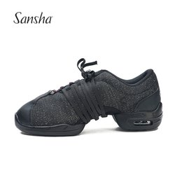 Jazz dancing shoes online shopping - Sansha Professional Canvas Teachers Salsa Jazz Modern Dance Shoes For Women Men Dancing Sneakers P54C