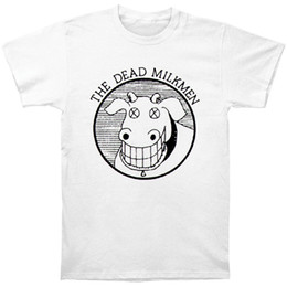 Broken Bad Australia - Dead Milkmen Men's Cow Logo Slim Fit T-shirt White Men Tshirt Short Sleeve Print Casual Breaking Bad Print T Shirt For Men 2018