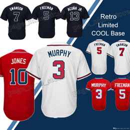 4ca6aa7b4 Atlanta 3 Dale Murphy 5 Freddie Freeman 44 Hank Aaron 10 Chipper Jones  jerseys 2018 new