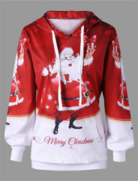 Wholesale santa women outfits online – oversize New Funny Santa Claus hooded hoodie Cute Unisex Hoodies Lucky Christmas Sweatshirts Cosplay Tops Holiday Outfit Pullover MZ0924