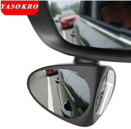 Discount blind spot mirrors - NEW YASOKRO Car Blind Spot Mirror Wide Angle Mirror 360 Rotation Adjustable Convex Rear View Mirror for Safety Parking C