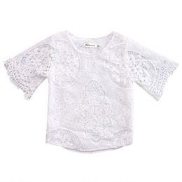 Cute Spring Shirts Australia - 2017 Spring Summer Baby Girls Blouses White Kids Cute Sweety Baby Gilrs Shirt Casual Children