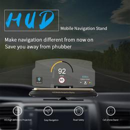 holder display phones 2019 - Truck Gps Car Navigation HUD Projector Head Up Display Holder Bracket for iPhone Xiaomi 6.5'' Screen Smart Pho