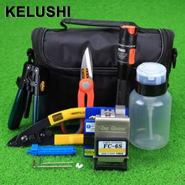 $enCountryForm.capitalKeyWord Canada - KELUSHI 15pcs set Fiber Optic FTTH Tool Kit with FC-6S Fiber Cleaver and 10mW Visual Fault Locator Optic Stripper