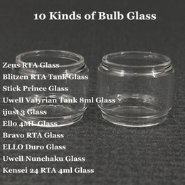 China Fat Extend Replacement Bulb Glass Tube for Zeus Blitzen Stick Prince Uwell Valyrian ijust 3 Ello Bravo RTA ELLO Duro Uwell Nunchaku DHL suppliers