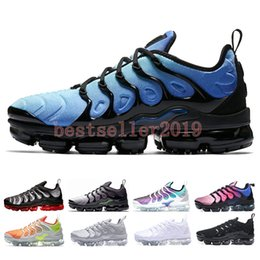 2018 New Chaussures TN Plus Grape Volt Hyper Violet Blue Reverse Sunset  Mens Running Shoes Triple white Black Red Shark Tooth Zapatos 9b9c393b9