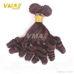 cheap burgundy hair weave 2019 - Popular anuty Funmi Hair For Black Women 3 Bundles Cheap 7A Grade Color#99j Burgundy Unprocessed Virgin Bouncy Curly Hum