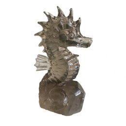 "$enCountryForm.capitalKeyWord UK - DingSheng 6"" Natural Tea-Coloured Citrine Hand Carved Seahorse Figurine Wild Life Figurine Handmade Craft Home Office Decoration Gift"
