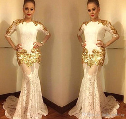 Holiday Evening Gowns Floor Length Australia - 2018 Arabic Mermaid Lace Evening Dress Jewel Neck Long Formal Holiday Wear Prom Party Gown Custom Made Plus Size