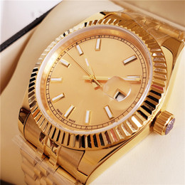 Ship Free Mens Wrist Watches Australia - Newest Top AAA Luxury Mens Watch All Gold Automatic Watch Stainless Steel original Clasp Mens President Watches Free Shipping 41mm