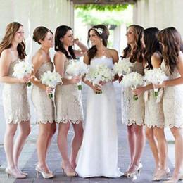 $enCountryForm.capitalKeyWord Australia - Lace Short Bridesmaid Dresses For Wedding 2018 Country Sheath Strapless Cheap Party Cocktail Dress Custom 2018