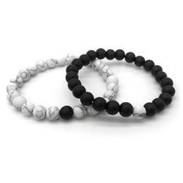 handmade beaded bracelets 2019 - Couple Bracelet Buda Bracelets For Women Masculina Men Jewelry femininity Lover Handmade 8mm Stone 2018 new fashion chea