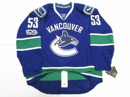7e33c4038c2 Cheap custom BO HORVAT VANCOUVER CANUCKS HOME 100th ANNIVERSARY JERSEY  stitch add any number any name Mens Hockey Jersey XS-5XL
