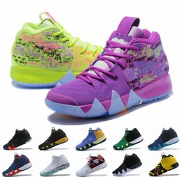 e5ee8c6177f2 2018 New Kyrie Basketball Shoes For Men Irving IV 4 Multicolor Black Moon  White Gold Finals Sports Training Sneakers Kyries Shoe Chaussures