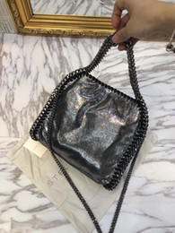 Falabella Chain Bag Canada - new colores Multi-Color women fashion stella falabella shaggy deer fold high quality tote shoulder bags plain suede leather 3 new chain bag