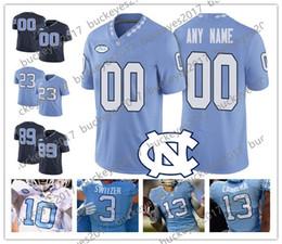 Custom North Carolina Tar Heels Any Player Blue White Stitched  11 Nathan  Elliott 12 Chazz Surratt NCAA College Football Jerseys S-4XL 2b57da1c3
