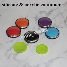 hash oil 2019 - FDA Approved 6ml Mirror Silicone Container Clam Shell Silicone Dab Wallet Container For Wax  Oil Butane Hash Oil Silicon