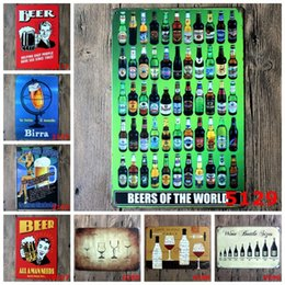 Buddhism posters online shopping - Beers Of The World Tin Poster Wine Glasses Roberts Neighbourhood Bar Tin Sign Durable Metal cm Iron Paintings Sturdy ljh B