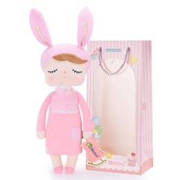 $enCountryForm.capitalKeyWord Canada - Animals Stuffed Plush Animals Plush Rabbit New Angela pink Dolls Wearing Dress Metoo Stuffed Bunny Dolls Gifts for Kids Girls 35*16cm