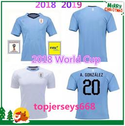 fea9be969 Best quality URUGUAY 2018 SUAREZ Soccer Jerseys D.GODIN E.CAVANI URUGUAY  home 18 19 World Cup football shirt J.M.Giménez De Arrascaeta